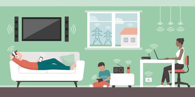 emf wifi radiation technology family AdobeStock_201539750